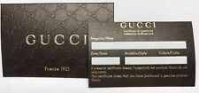 Lot of 10 Gucci Certificates Of Authenticity COA Unused NEW With Gucci Envelope