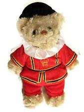 British Beefeaters Teddy Bear Souvenir of England UK Plush Crest of London Toy