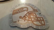 Seattle Seahawks Football Helmet Three Track Cribbage Board
