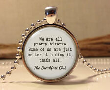 FreeThe Breakfast Club quote pendant.The Breakfast Club words necklace Jewellery