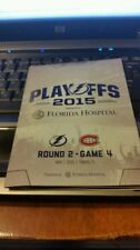 TAMPA BAY LIGHTNING VS MONTREAL CANADIENS 2015 Playoff Round 2 Game 4  Programs
