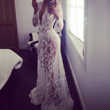 Full Length Lace Long Sleeve Ballgowns for Women