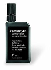 STAEDTLER 485 23-9 INCHIOSTRO DI RICARICA Lumocolor Permanente 22 ML per 385/388 Nero