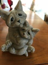 Quarry Critters Celine and Cleo Second Nature Design Cat Figurine