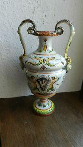 Ginori Italien Keramik Fayence Amphore Henkelvase