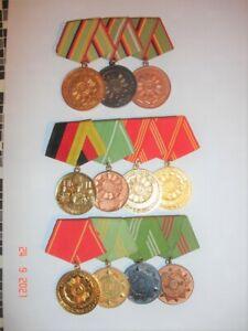 DDR-Volkspolizei-NVA-Medaillen-Abzeichen-Uniform-Konvolut Ordensspangen!!!!!!!!!