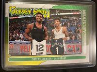Zion Williamson & Ja Morant Jersey Swap 2021 NBA Hoops 2021 No.10 🔥 🔥🔥