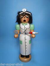 Räuchermann Ärztin mit Spritze 19 cm groß Doktorin farbig Räucherfigur NEU