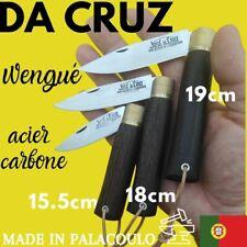 COUTEAU DA CRUZ 19 CM PORTUGAL WENGUE CARBONE TRANCHANT RASOIR CHASSE NATURE