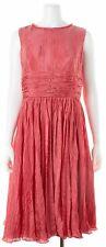 OSCAR DE LA RENTA Red Fit Flare Dress Sz 16 644025