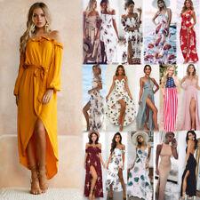 Vestido de verano nuevo Para mujeres de Verano Vestido Boho largo maxi Vintage Playa Fiesta Boda