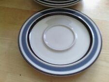 "Dachi Akey Blue The Cellar/Macy's 6-1/4"" SAUCER Set of 5  Made In Japan F3942"