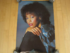 Original 80s vtg Whitney Houston Poster Concert wall art Pop rock Music nos 1986