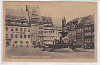 Ansichtskarte Freiberg/Sachsen - Obermarkt mit Brunnen und Denkmal -schwarz/weiß