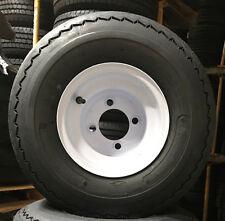 Lot of 4 18x8.50-8 LRB 4 PR Golf Cart Tire on 4 Lug White Steel Wheel 18 850 8