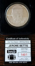 Jerome Bettis Highland Mint Silver Medallion