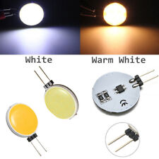 White/Warm White G4 12V AC/DC Round COB Super Bright LED Chip Light Lamp