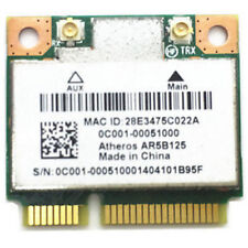 Atheros AR5B125 Half MINI PCI-E 802.11 b/g/n 150Mbps Wireless Card for Asus/Dell