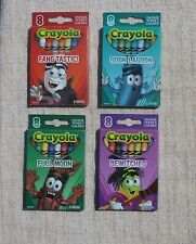 4 Boxes Lot Limited Edition 2013 Crayola Halloween Crayons, Witch, Werewolf, etc