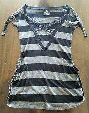 Lip Service RARE Risen From The Ashes Tunic Top SKULL GOTH GOTHIC ALT ROCKER