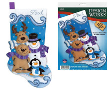 Design Works Felt Applique Christmas Stocking Kit WINTER FRIENDS Complete Kit
