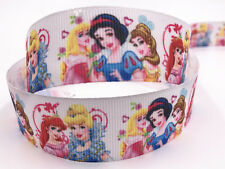 New 5 yards 1 inch 25mm print Anime characters bow Ribbon Christmas Craft Ribbon