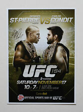 GEORGES ST-PIERRE vs CARLOS CONDIT WELTERWEIGHT CHAMPIONSHIP UFC 154 POSTER