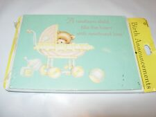 New 8 Pack Note Cards & Envelopes Party Invitations birth announcement girl boy
