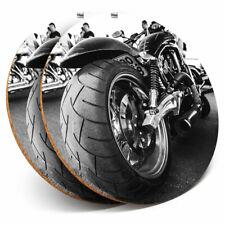 2 X Posavasos-American Moto Chopper Bicicleta Hogar Regalo #12429