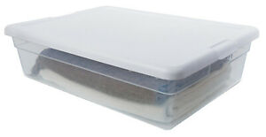 10 Pack - Storage Box, White Lid With See-Thru Base, 28-Qts. -16558010