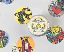 Nacoo's Kawaii Circle Label Point Sticker Set ( 48 pcs in tin case ) - Tarot