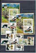 BHUTAN 1972 DOGS PERFORED + IMPERFORED  MNH