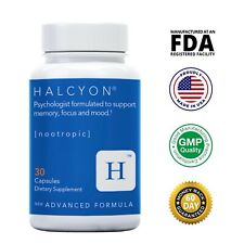 Halcyon BLUE (30ct) Brain Booster - Enhanced Focus, Energy, Memory