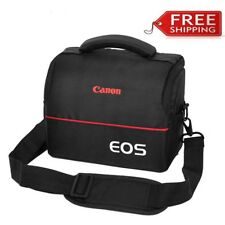 Camera Bag Case for Canon EOS 700D 750D M50 M100 T5 T6 T7i Strap+Belt+Rain Cover