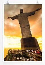 90x60cm Poster  Sugar Loaf und Botafogo Beach in Rio de Janeiro Brasilien