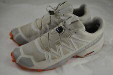 New listing Mens SALOMON Speedcross 5 Silver Orange Running Trail Shoes Size 10.5 US 44 2/3