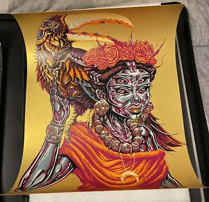 "Munk One x Bioworkz Cosmic Jungle Gold Foil Art Print #'d 10/10 18x24""!"