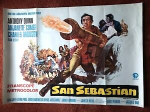 San Sebastian Kinoplakat Poster A0 quer, 84x119cm, Charles Bronson Anthony Quinn