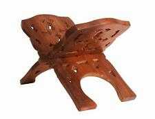 Wooden Hand Carved Holy Book Stand 12 inch (Rosewood/Sheesham, Brown) KU