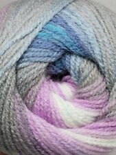 Lilac Blue Grey Gradient Batik Yarn 100g wool crochet knitting DK acrylic