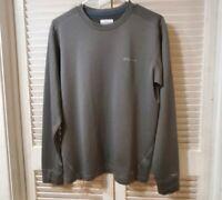Columbia Sportswear Men's Crew Neck Pullover Sweater Size m Grey