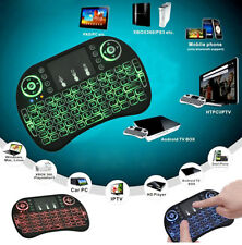 2.4G Mini Backlit Wireless Keyboard Touchpad Remote Air Mouse TV PC Pad Gaming