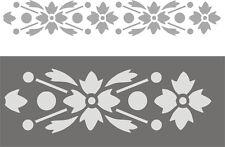 Schablonen Dekorschablone Wandschablone Malerschablonen Wandbordüre  Blütenband