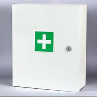 Wall Mount First Aid Medical Medicine Metal Steel Cabinet Box Lockable Case Box