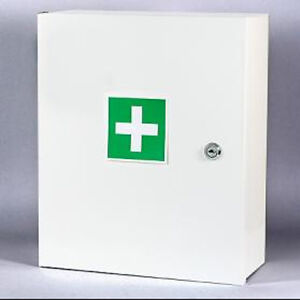 Wall Mount First Aid Medical Medicine Metal Steel Cabinet Box Lockable Case Box