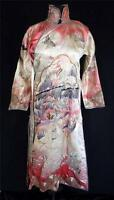VERY RARE CHINESE 19TH CENTURY SILK HAND EMBROIDERED COURT ROBE SIZE SMALL