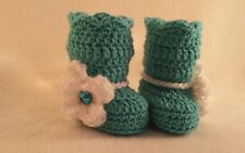 Newborn Baby Girl Boot Booties  Crochet Infant photo Prop Gift Outfits