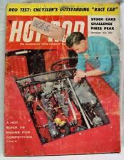 HOT ROD MAGAZINE SEPTEMBER 1956 CHRYSLER RACE CAR VINTAGE CARS AUTOMOBILES