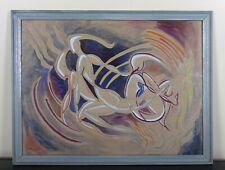 Abstract Watercolour 'The Dancers' Wendy Wood Modernist Painting