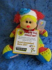 BEANIE KIDS CHUCKLES THE CLOWN BEAR 429C QUEENSLAND SHOW 2007 + VOUCHER QLD SOFT